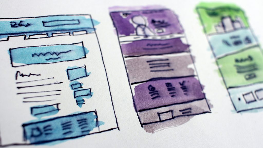 A website wireframe example